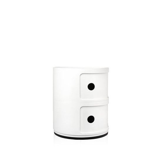 Kartell Kartell Componibili 2 Drawer Tower in White