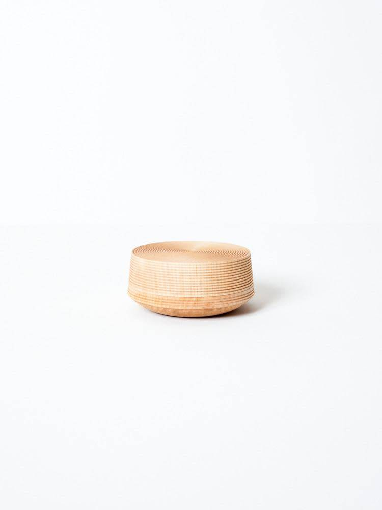 Morihata Japanese Hand Carved Wood Canister