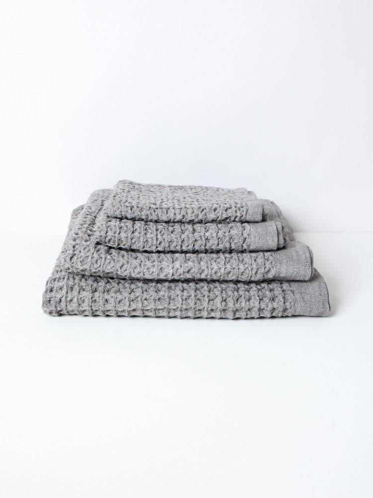 Morihata Lattice Linen Bath Towel: Grey
