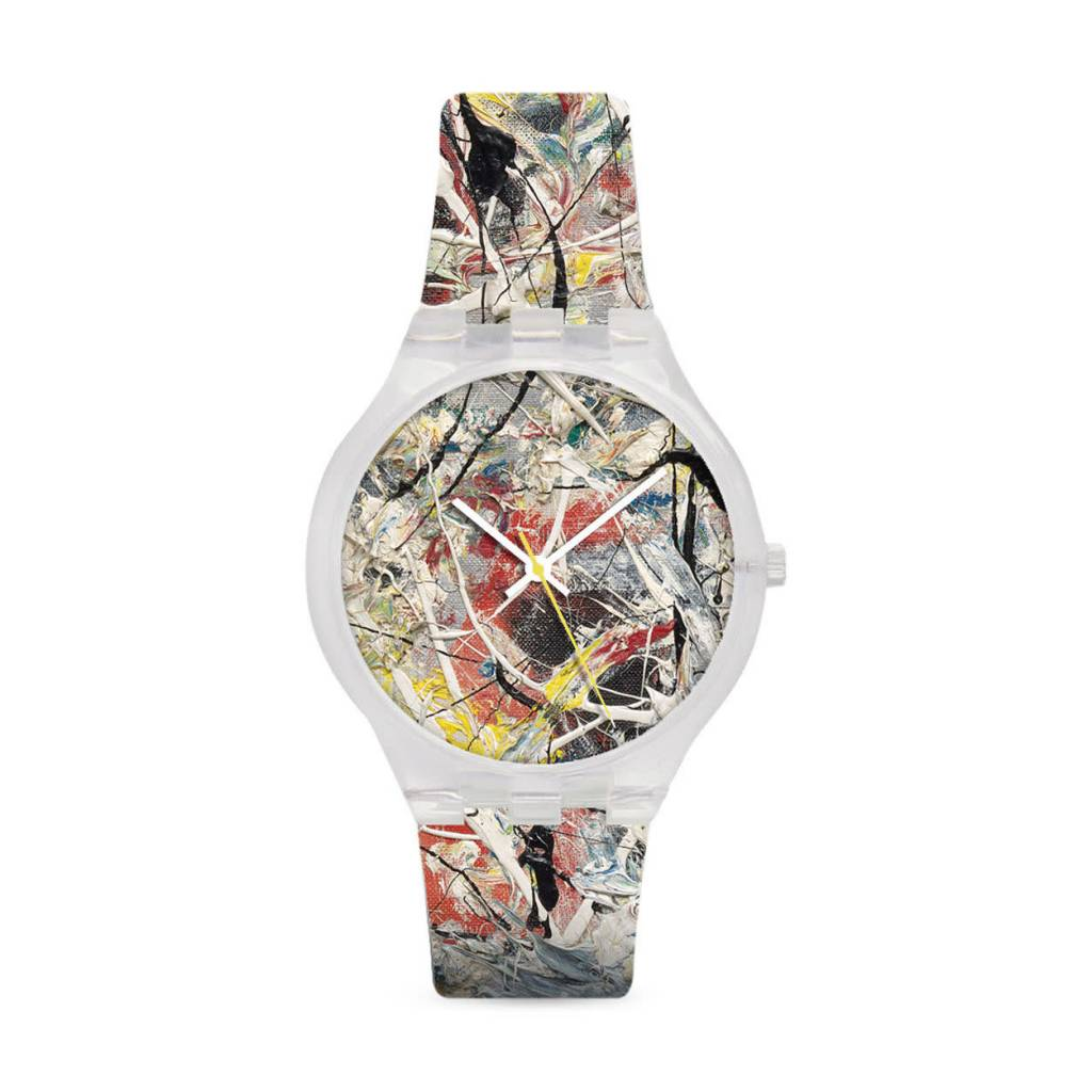 MoMA MoMA Jackson Pollock White Light Watch