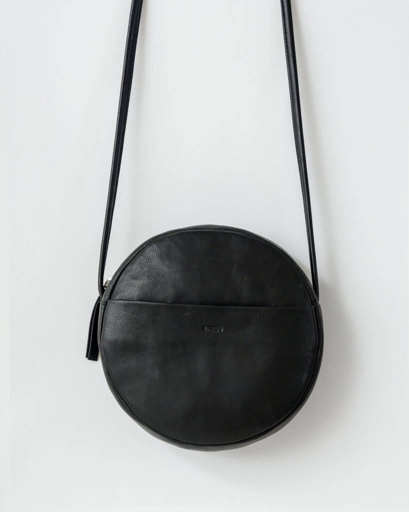 Baggu Circle Purse in Black Leather