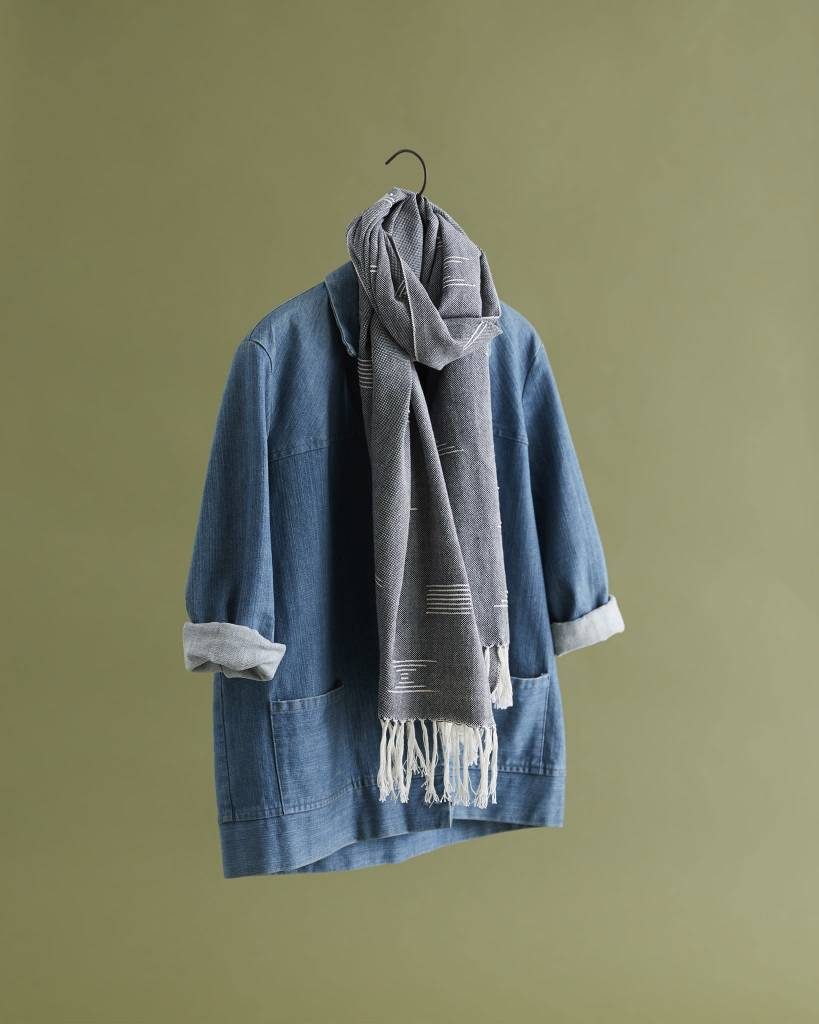 Minna Shapes Runner/Scarf in Blue