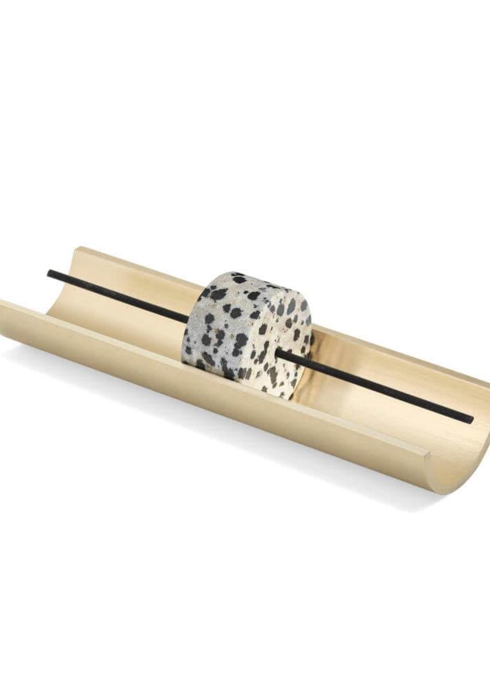 Circa Incense Burner: Dalmatian Stone
