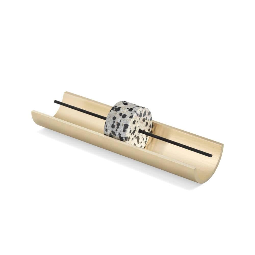 Cinnamon Projects Circa Incense Burner: Dalmatian Stone