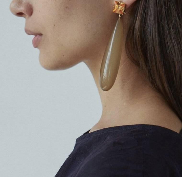 Rachel Comey Rachel Comey Camber Earrings: Amber/Brown