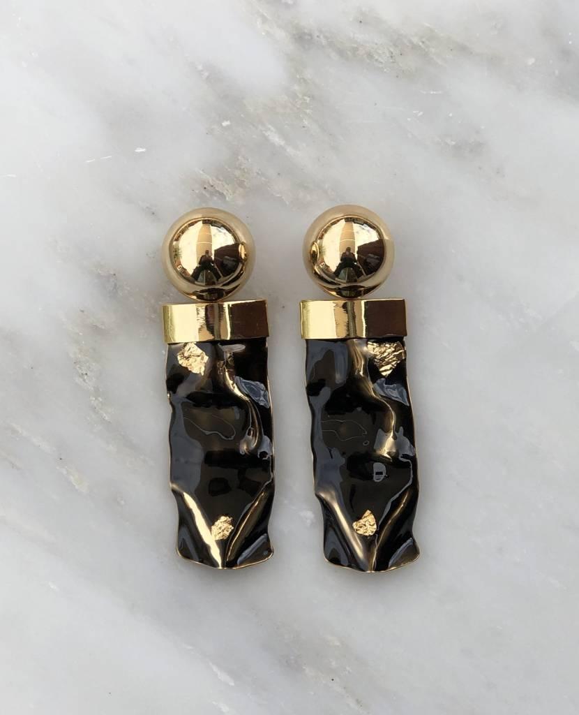 Rachel Comey Rachel Comey Swaybar Earrings Black/Gold