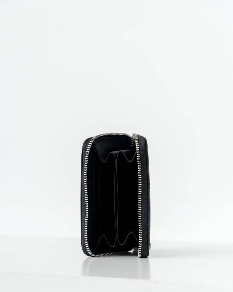 Baggu Unisex Short Zip Wallet Black