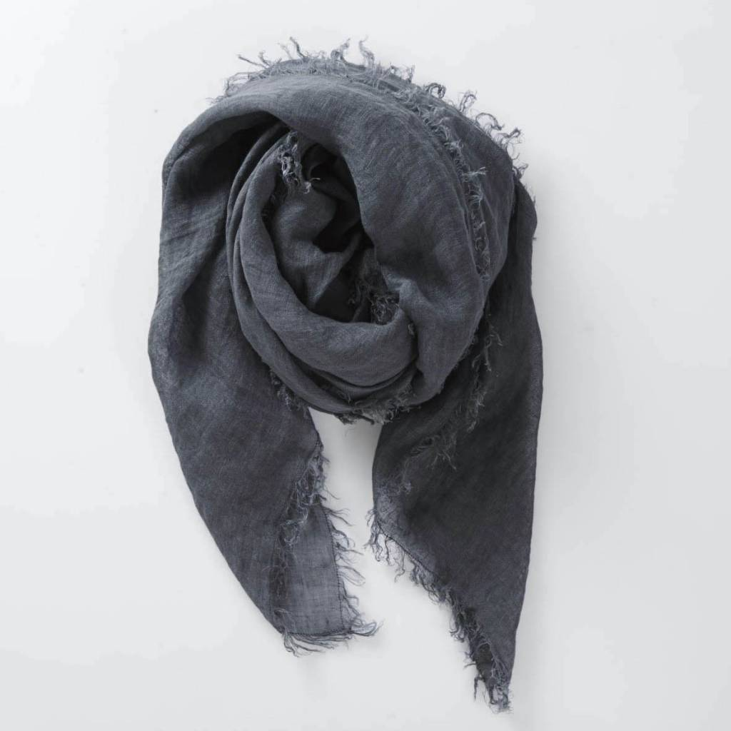 Linen Scarf in Midnight