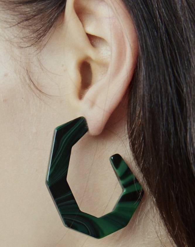 Rachel Comey Rachel Comey Baby Factor Earrings Malachite