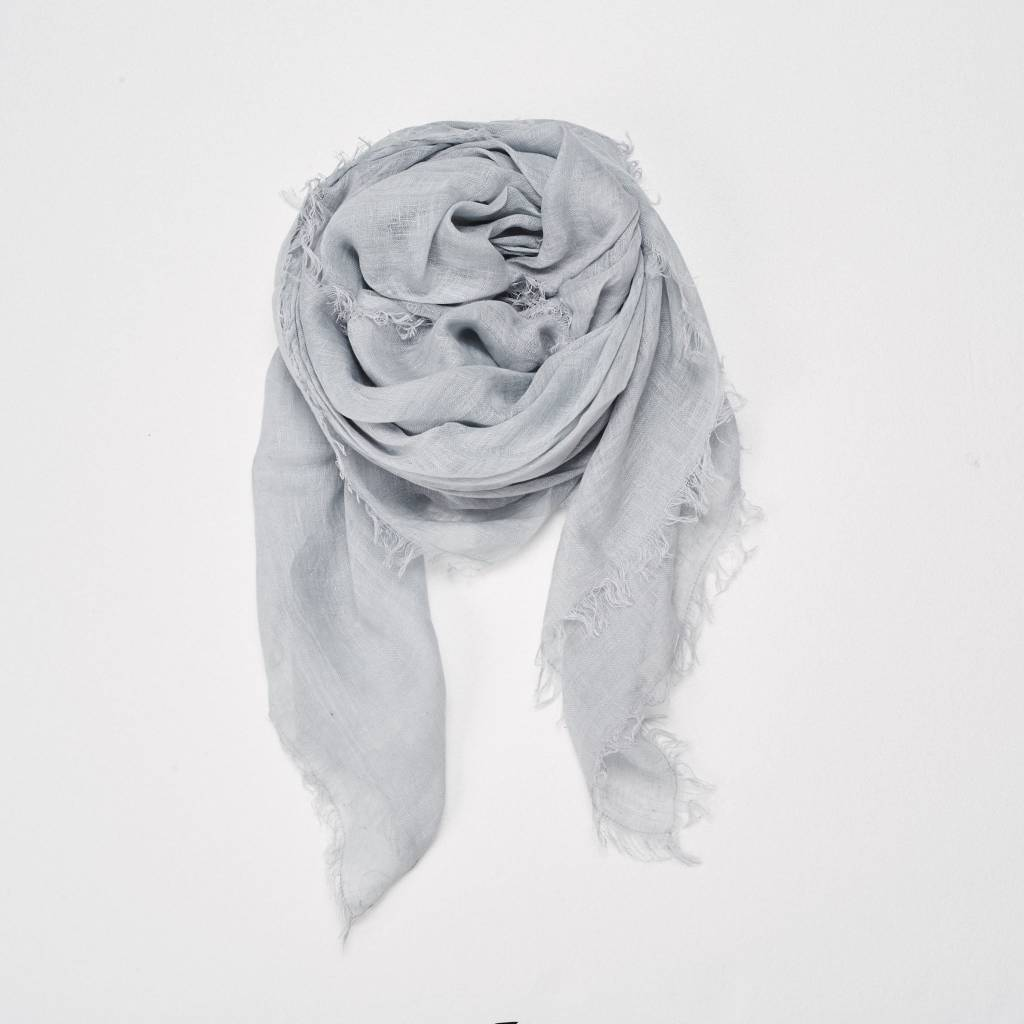 Linen Scarf in Chambray