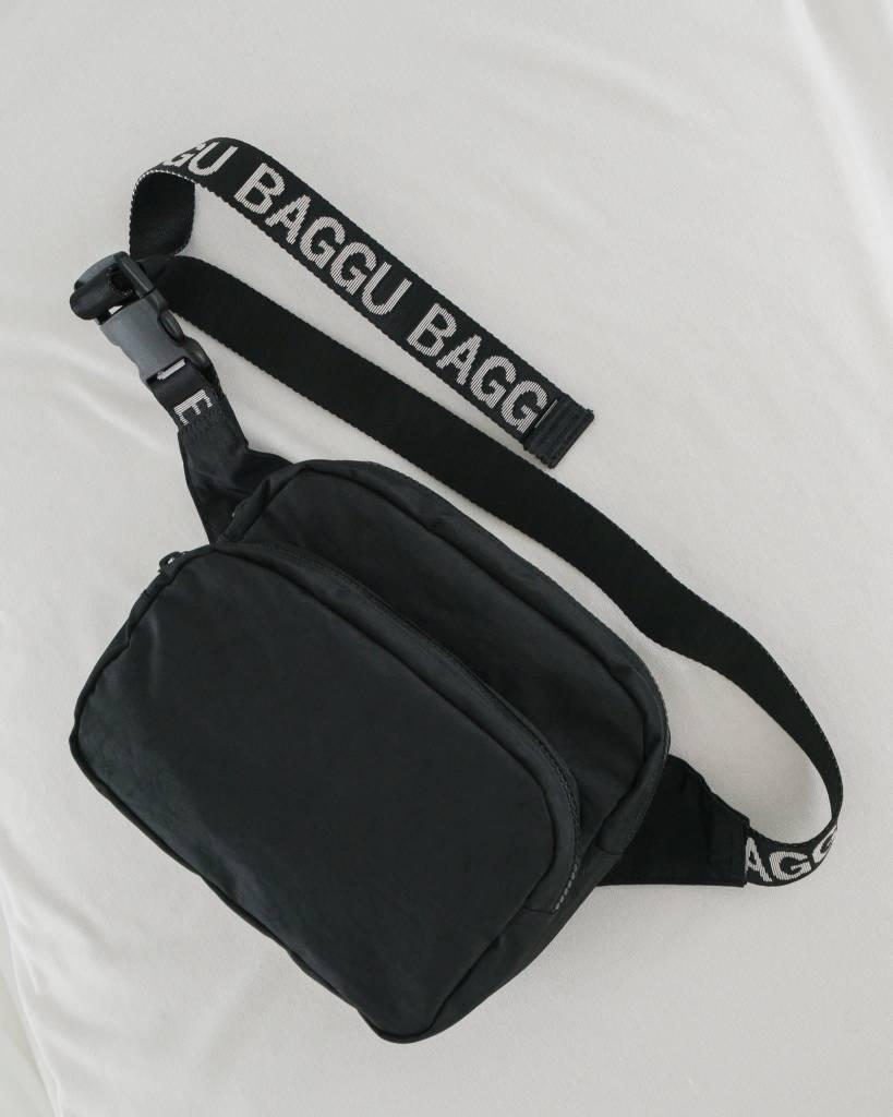 Baggu Black Nylon Fanny Pack