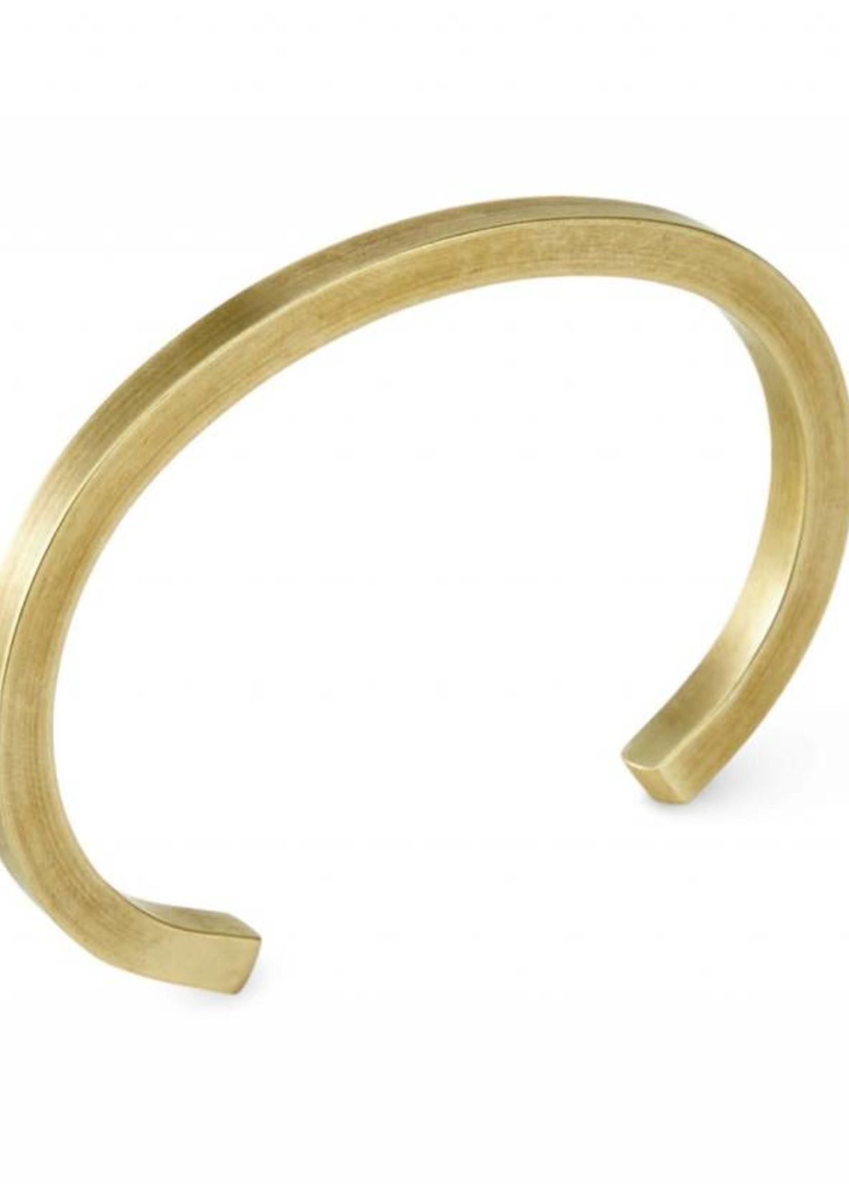 Craighill Uniform Square Cuff in Brass