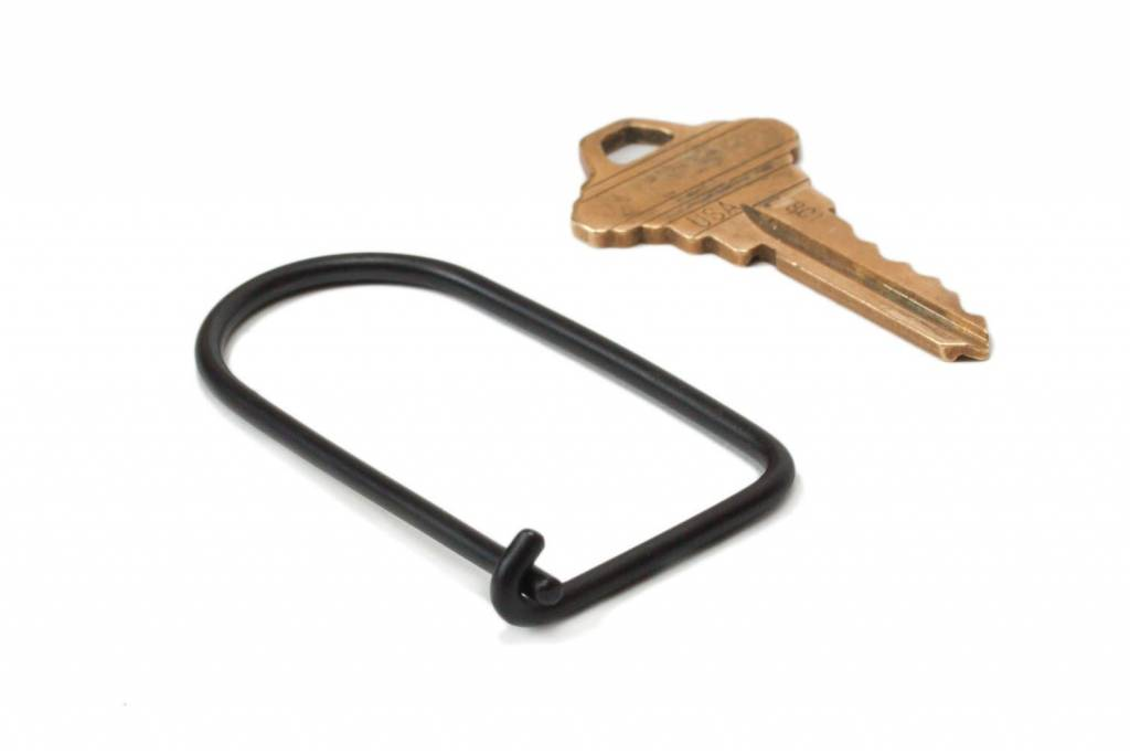 Craighill Wilson Key Ring: Carbon Black