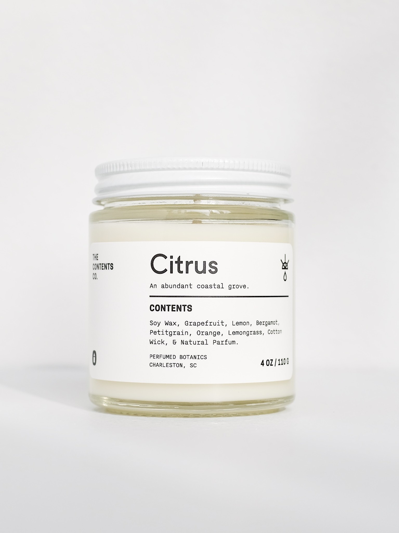 The Contents Co. 4oz Travel Candle: Citrus