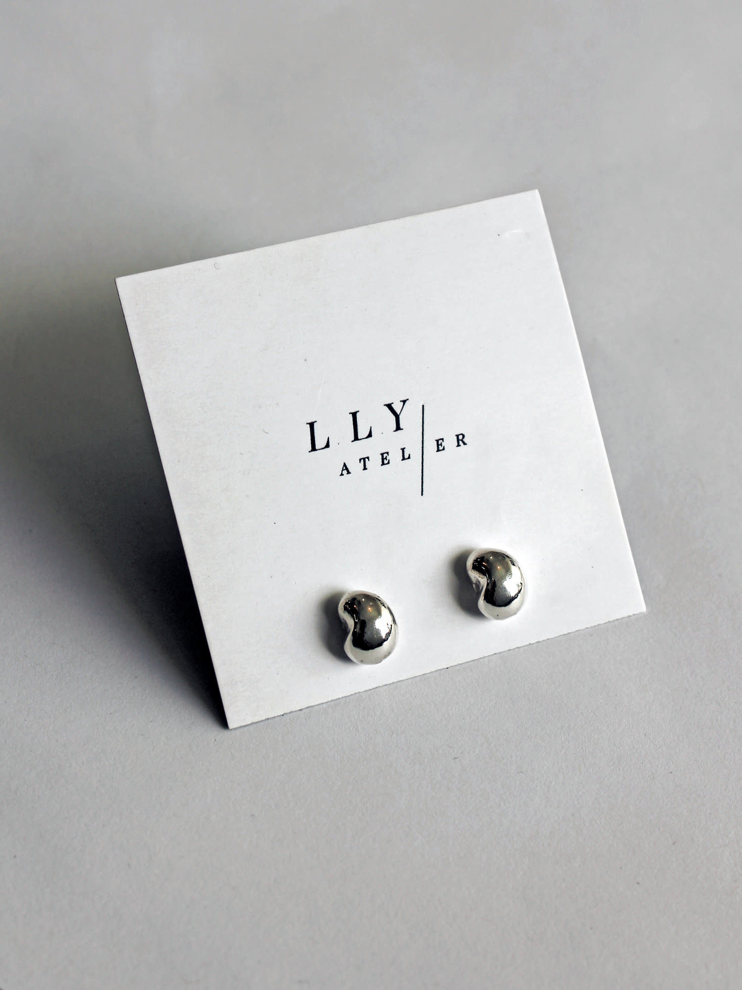 L.L.Y. Altelier Mini Drop Earrings in Solid Silver