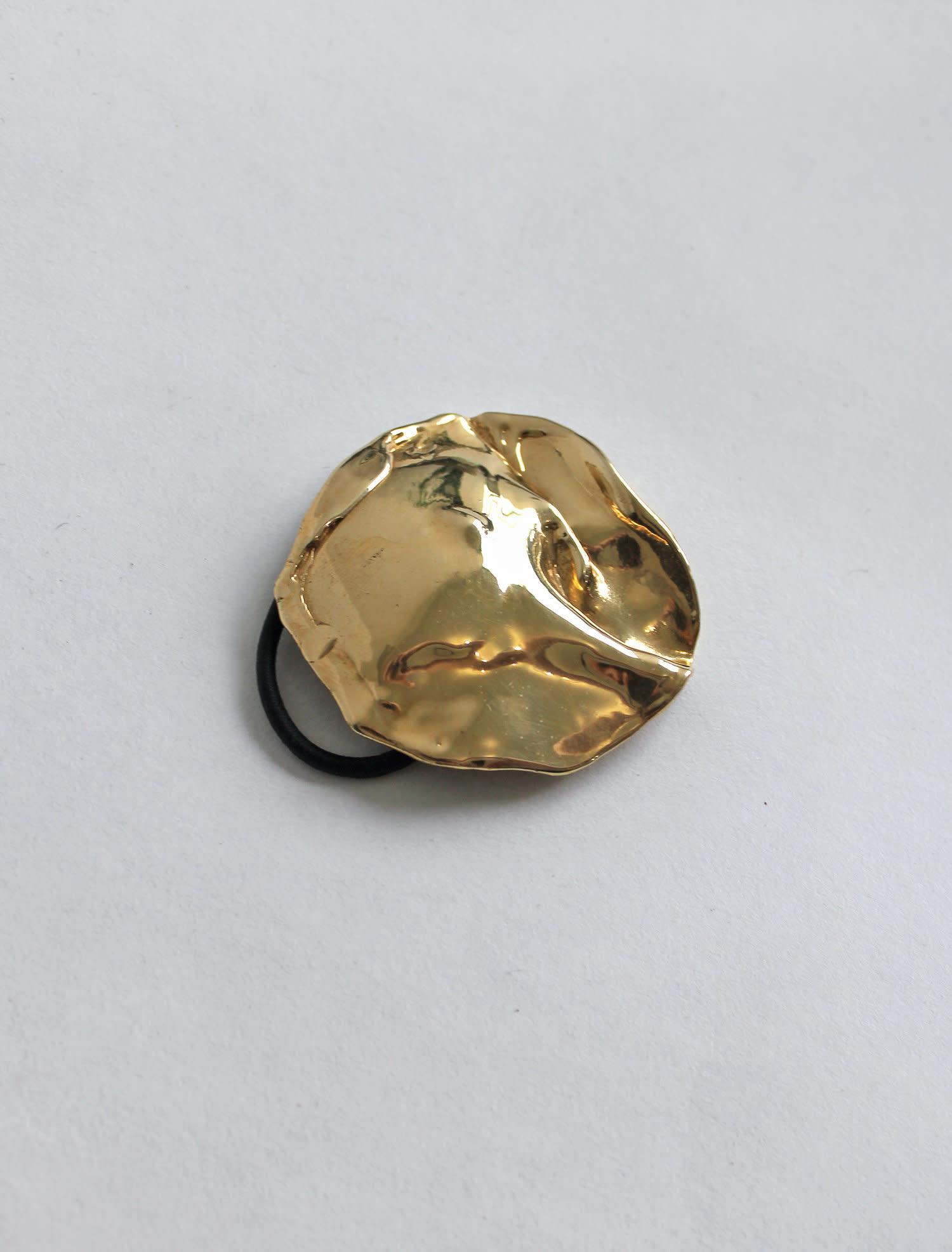 L.L.Y. Altelier Molten Metal Hair Tie in Brass