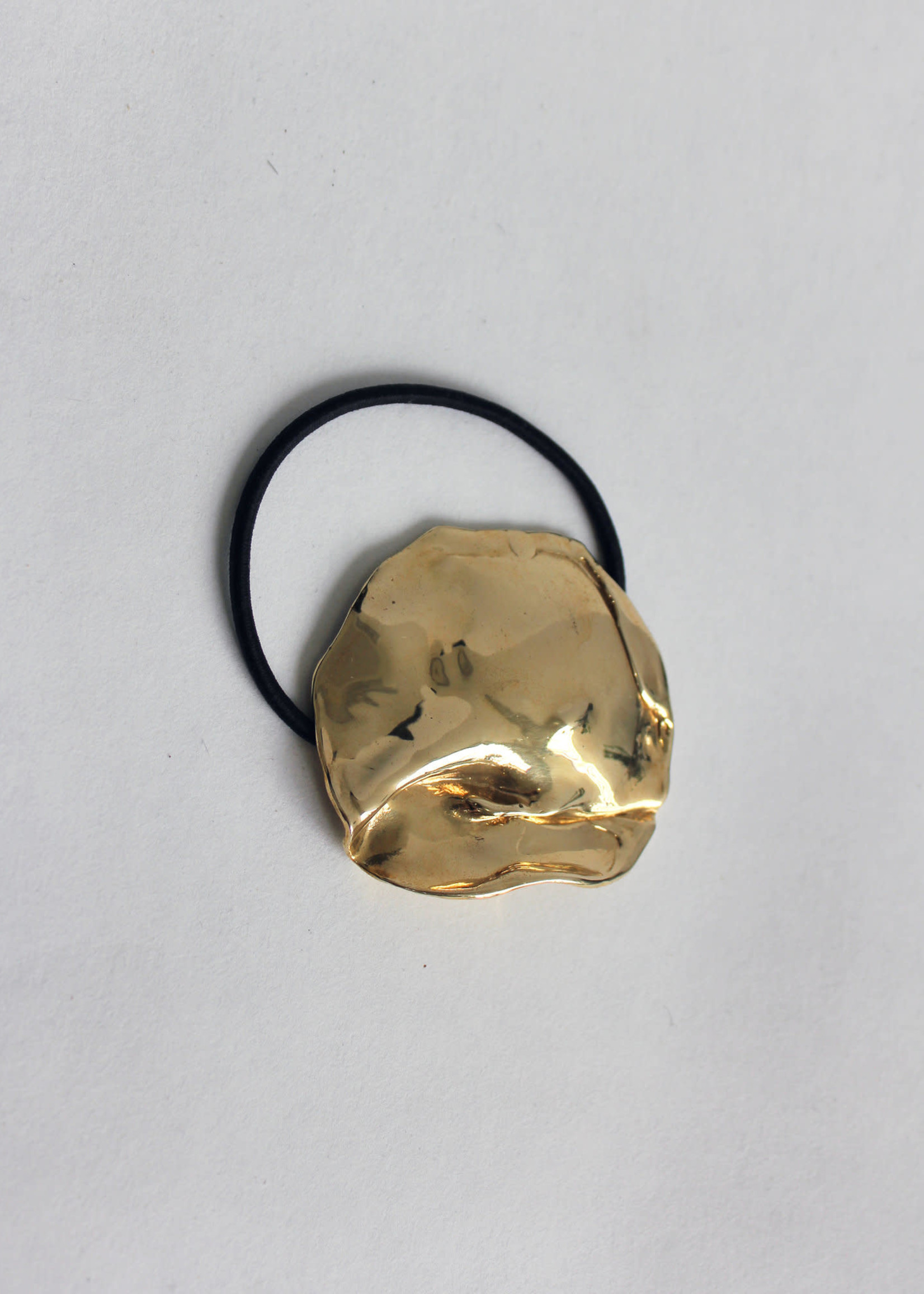 Molten Metal Hair Tie in Brass