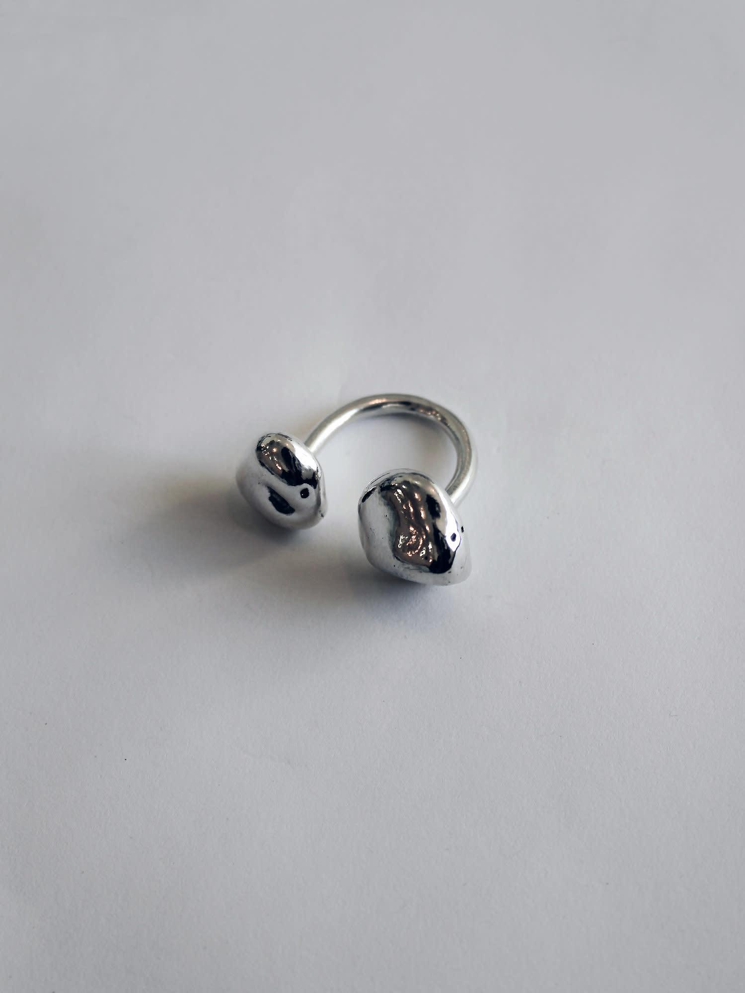 L.L.Y. Altelier Floating Open Ring in Silver