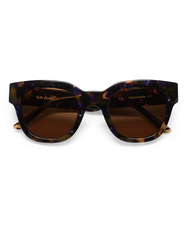Sun Buddies Liv Sunglasses in Purple Blonde Tortoise