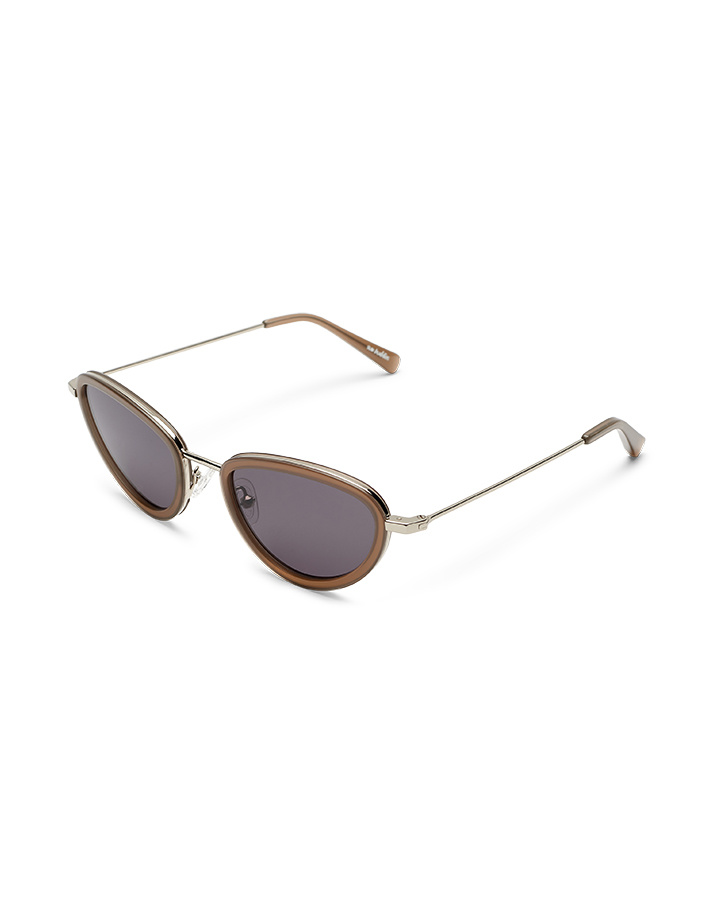 Sun Buddies Left Eye Sunglasses in Silver/Ash Grey