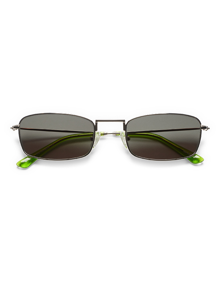 Sun Buddies E-40 Sunglasses in Silver/Gremlin Green