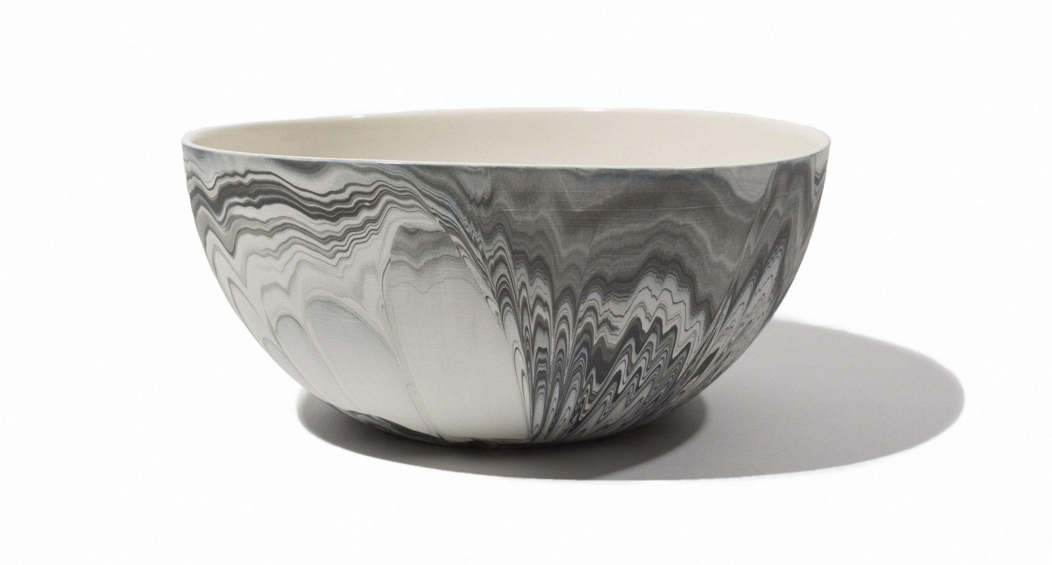 Andrew Molleur Large Marbled Serving Bowl