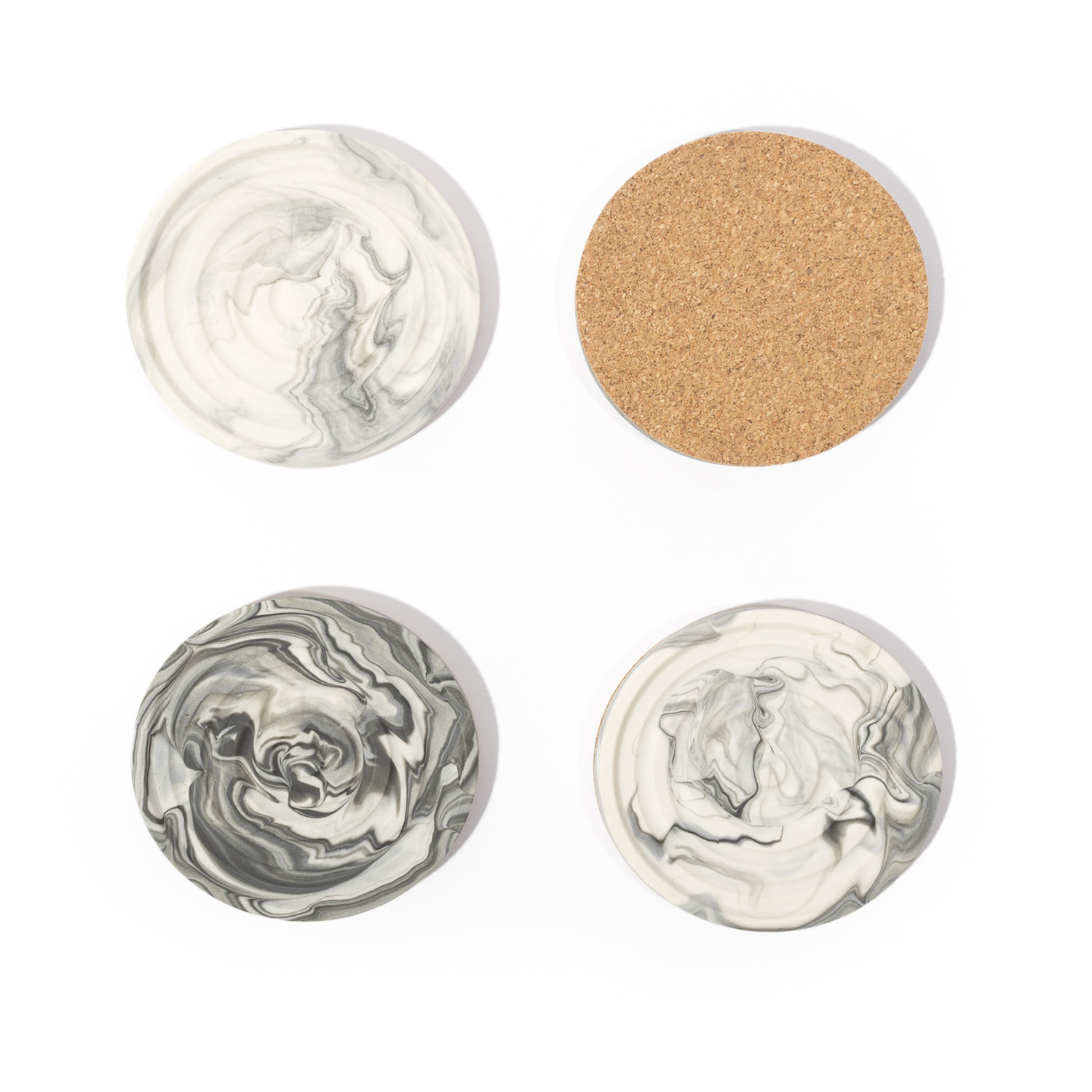 Andrew Molleur Marbled Coasters: Set of 4
