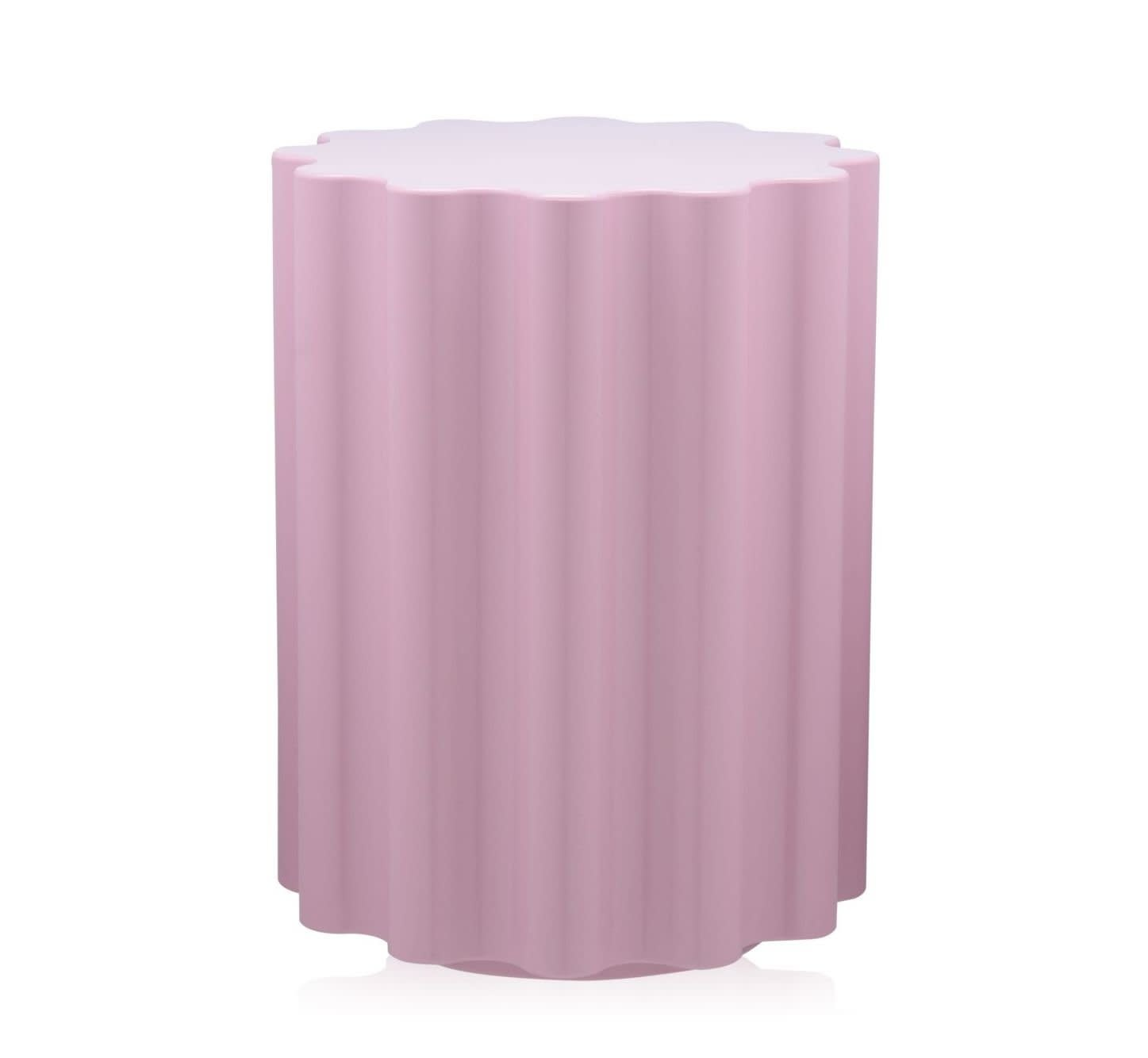 Kartell Colonna Stool/Side Table in Pink