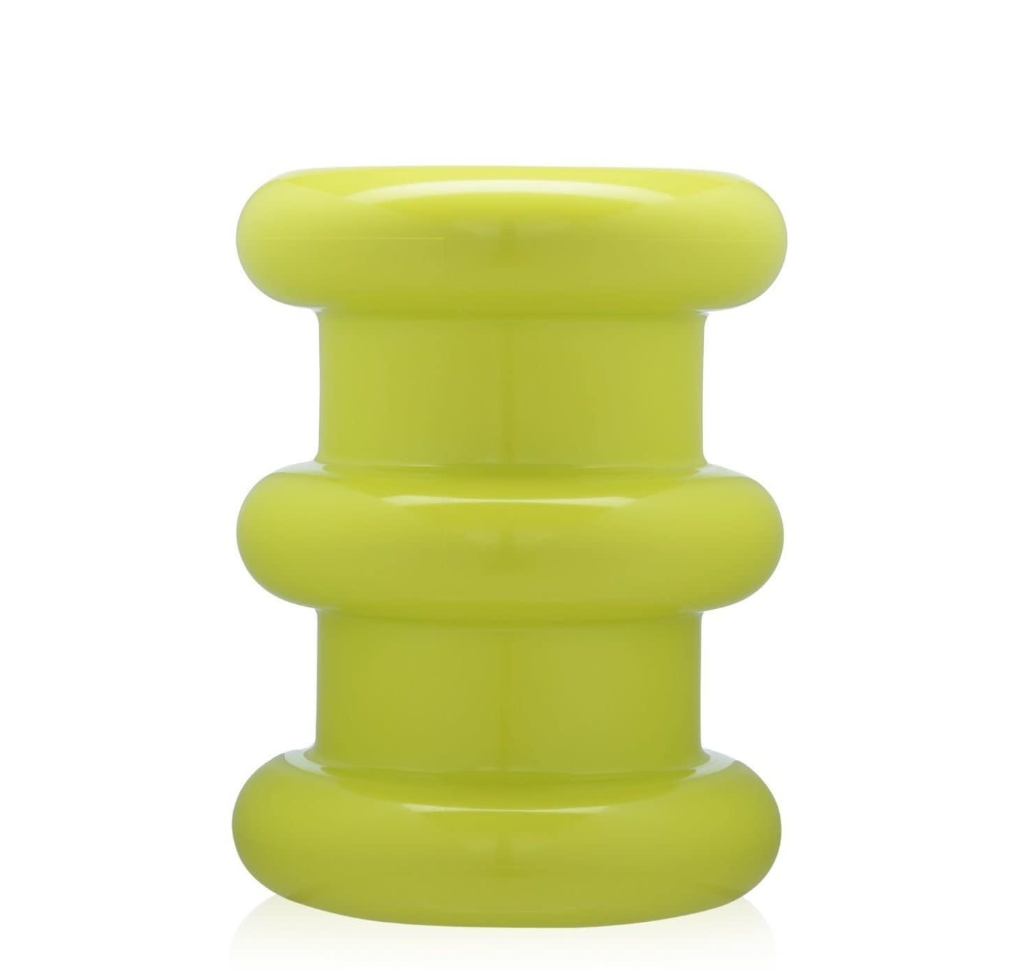 Kartell Pilastro Stool/Side Table in Neon Green