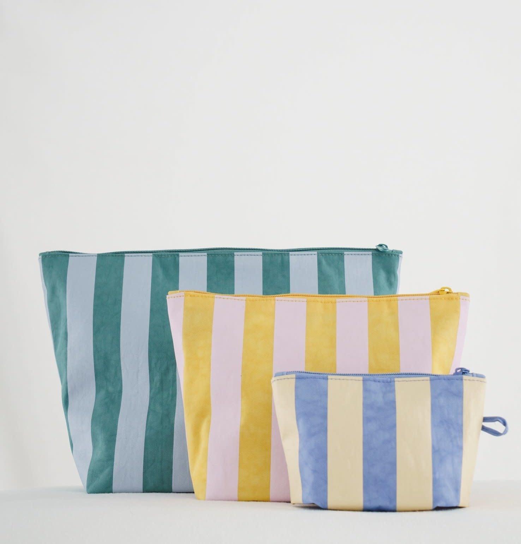 Baggu Travel Pouch Set Stripes