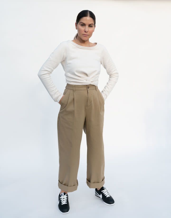 Rachel Comey Argento Sweatshirt in Dirty White