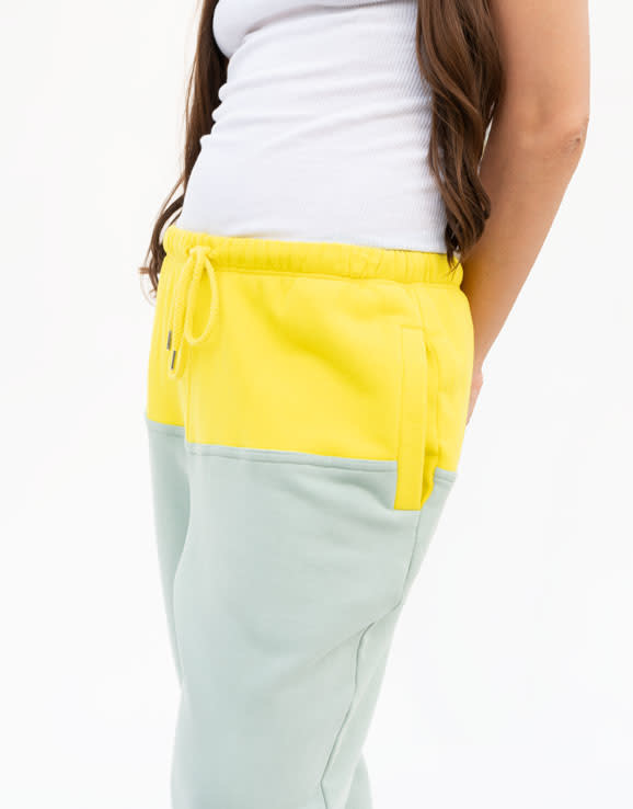 Rachel Comey Tremble Sweatpant in Citron and Seagreen