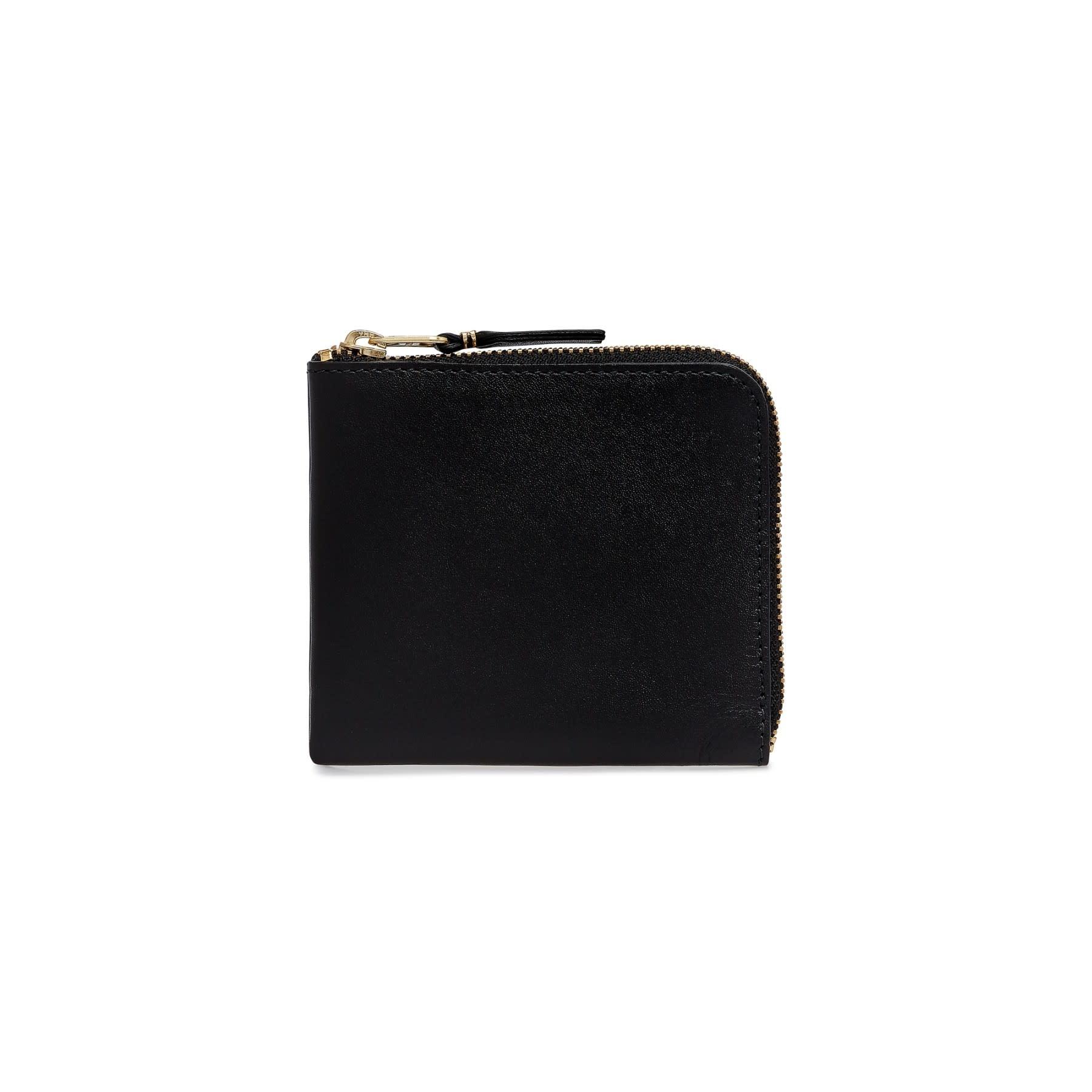 COMME des GARÇONS WALLET Comme des Garçons 1/2 Zip Wallet Classic Black SA3100