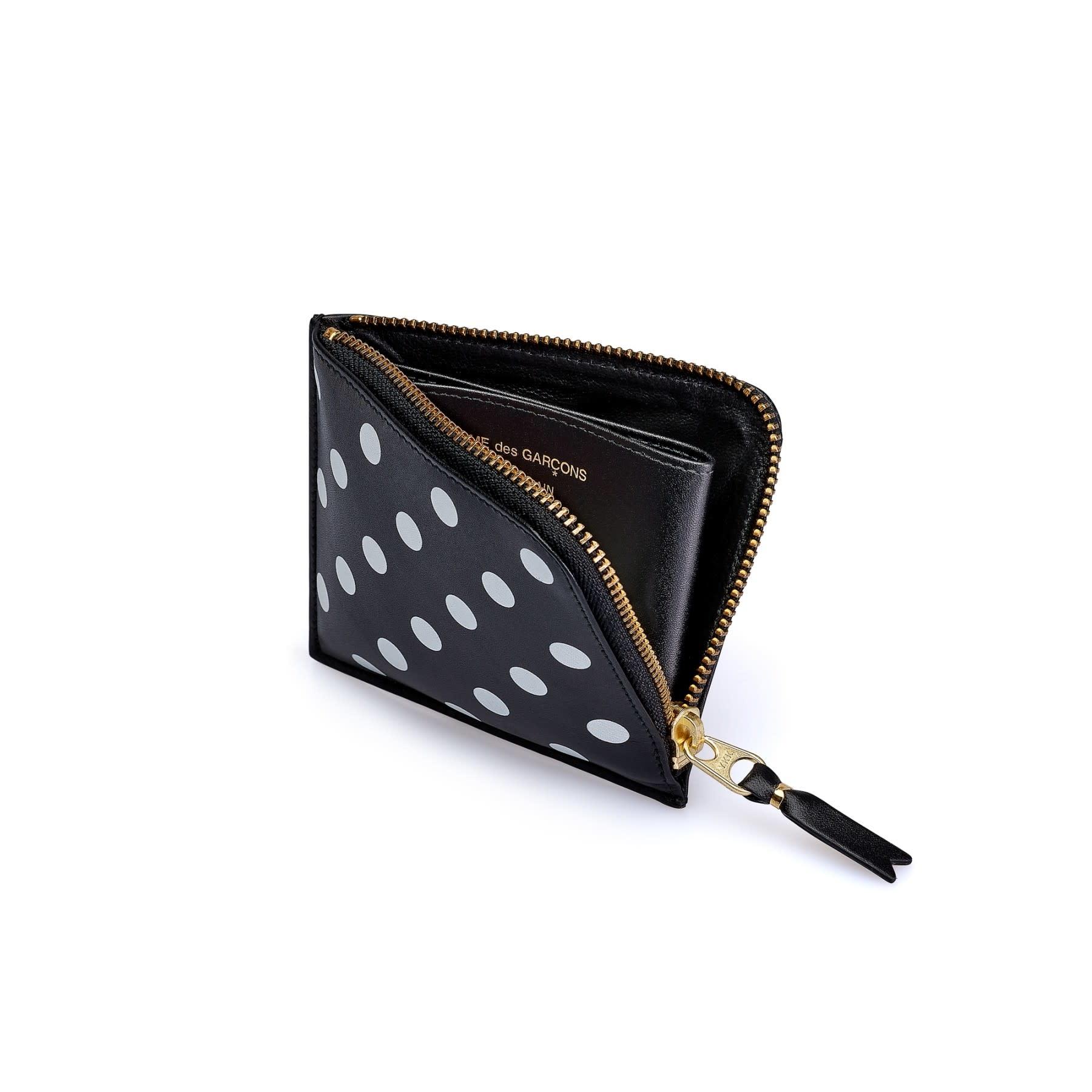 COMME des GARÇONS Wallet Comme des Garçons 1/2 Zip Wallet in Polka Dot SA3100PD