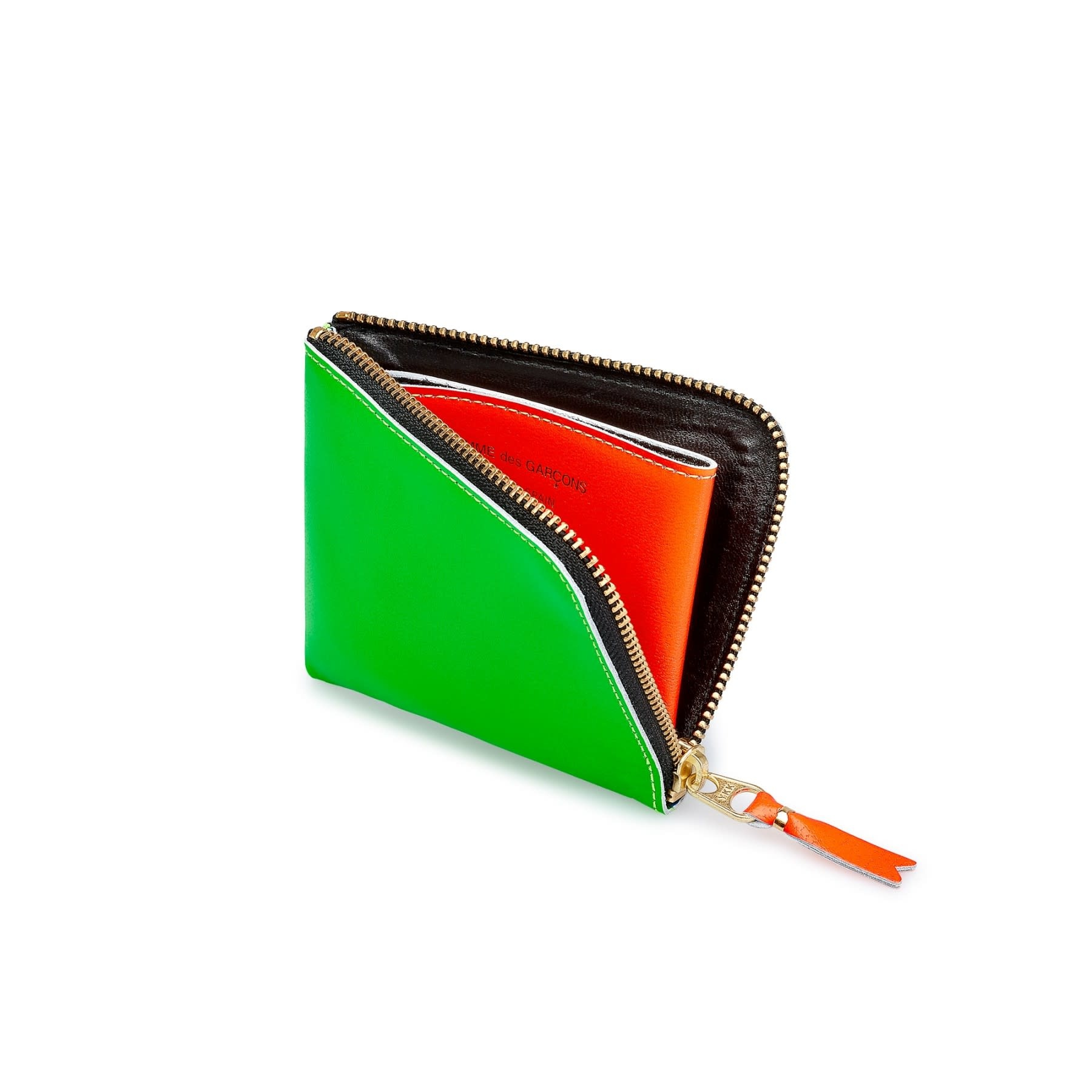 COMME des GARÇONS Wallet Comme des Garçons 1/2 Zip Wallet Neon Green/Orange SA3100SF