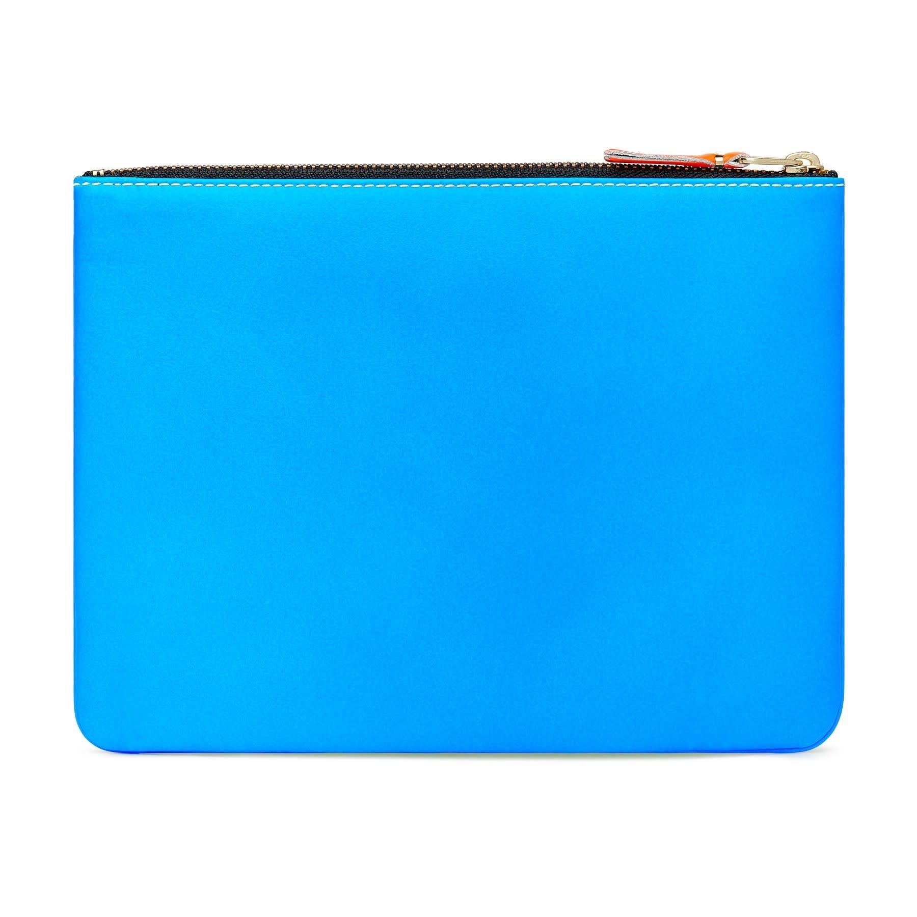 COMME des GARÇONS Wallet Super Fluo Pouch Neon Green/BLue  SA5100SF