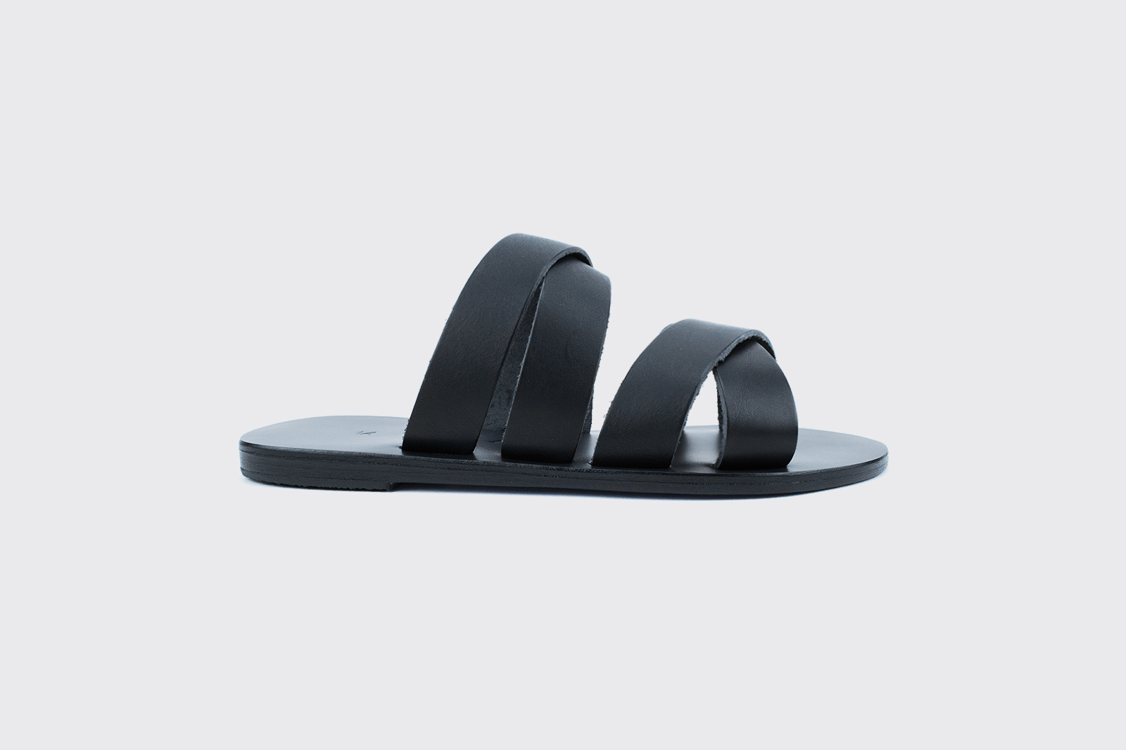 Kyma Kalamos Handmade Greek Sandals in Black