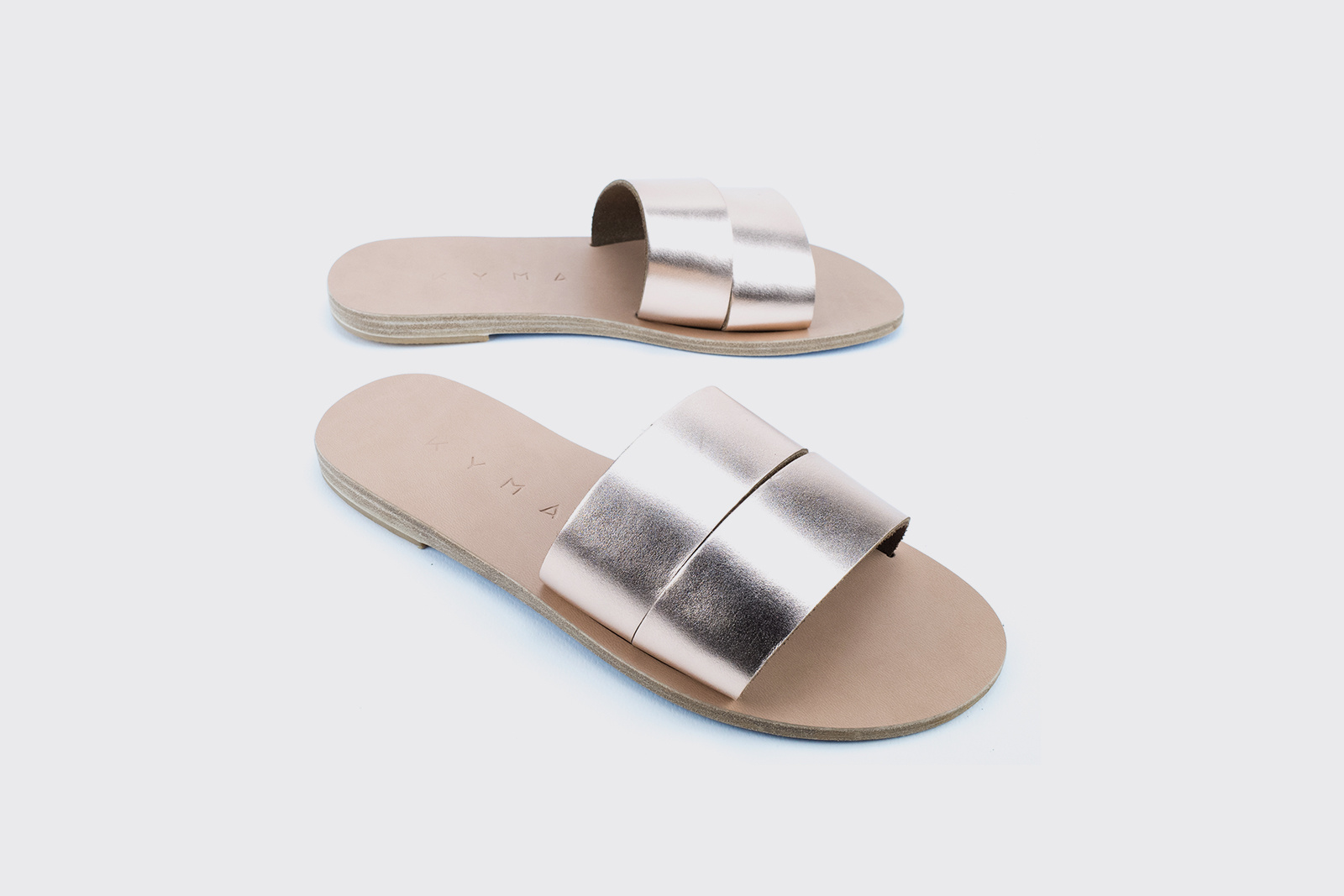 Kyma Kithira Greek Sandals in Bronze/Natural