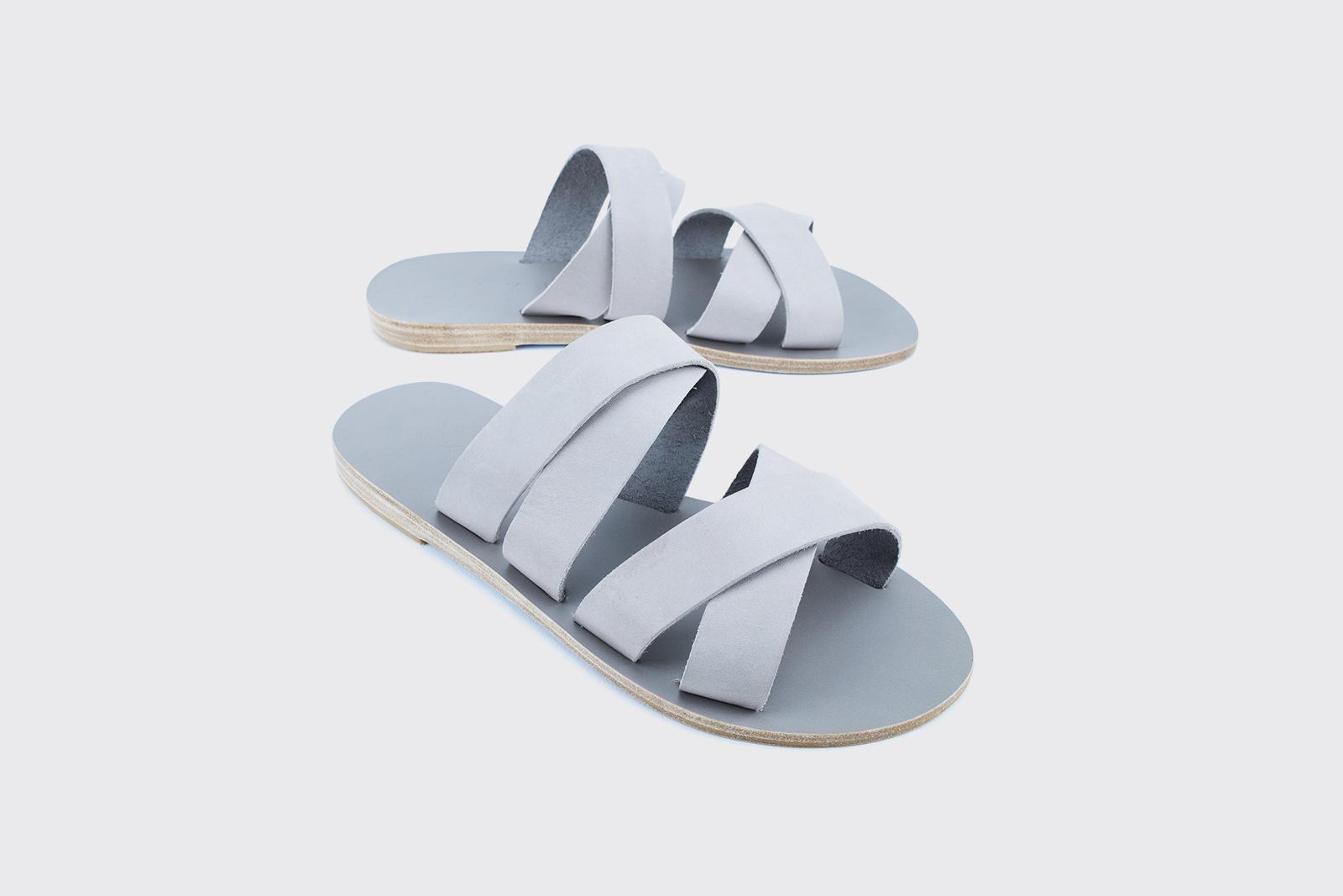 Kyma Kalamos Handmade Greek Sandal Grey