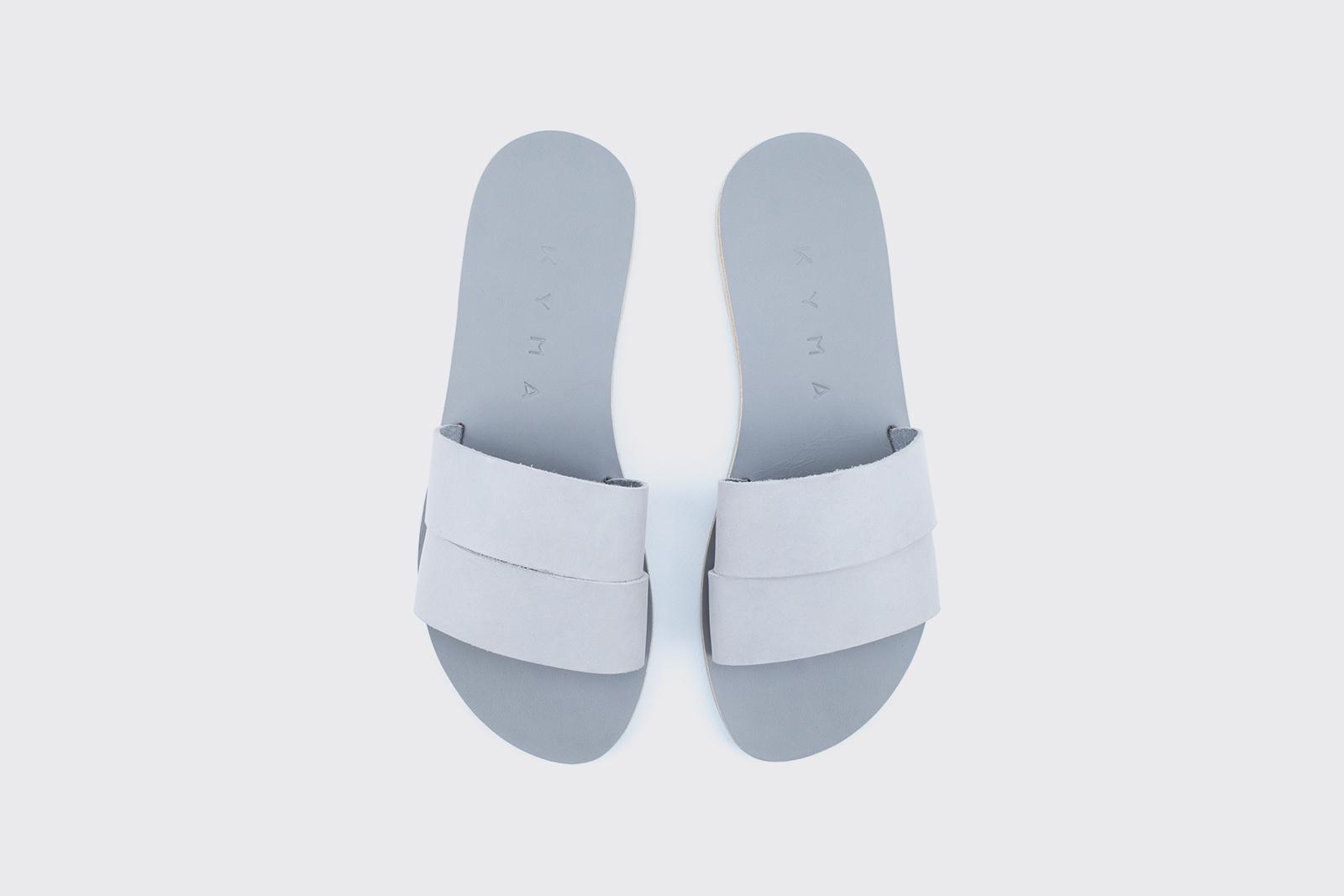 Kyma Kithira Handmade Greek Sandals Grey