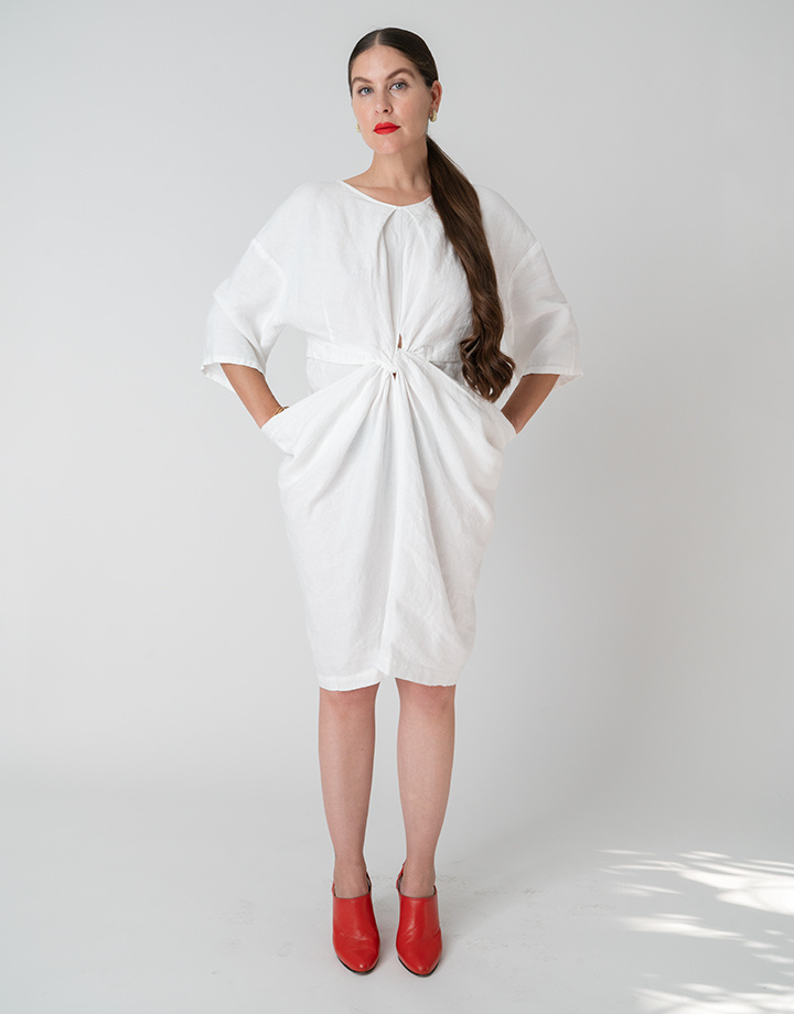 Rachel Comey Scope Dress In White Linen