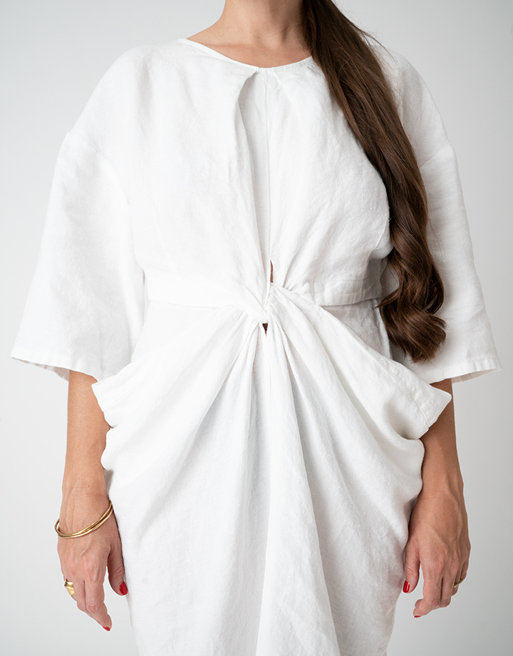 Rachel Comey Rachel Comey Scope Dress in White Linen