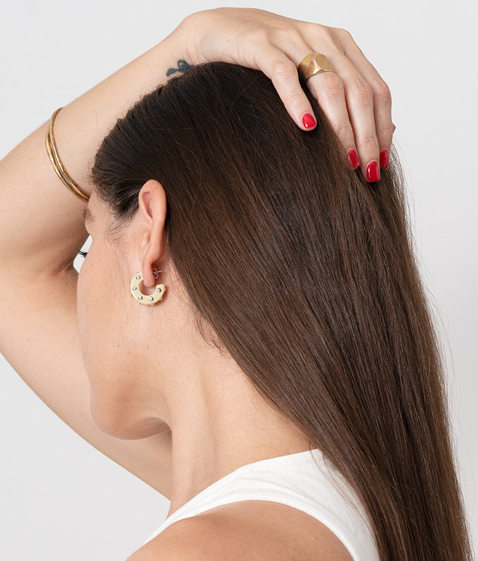 Rachel Comey Rachel Comey Cuba Earrings Vanilla Silver Stud