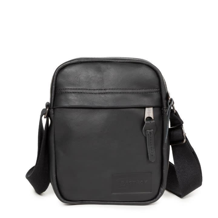 Eastpak The One Crossbody Bag: Black Leather