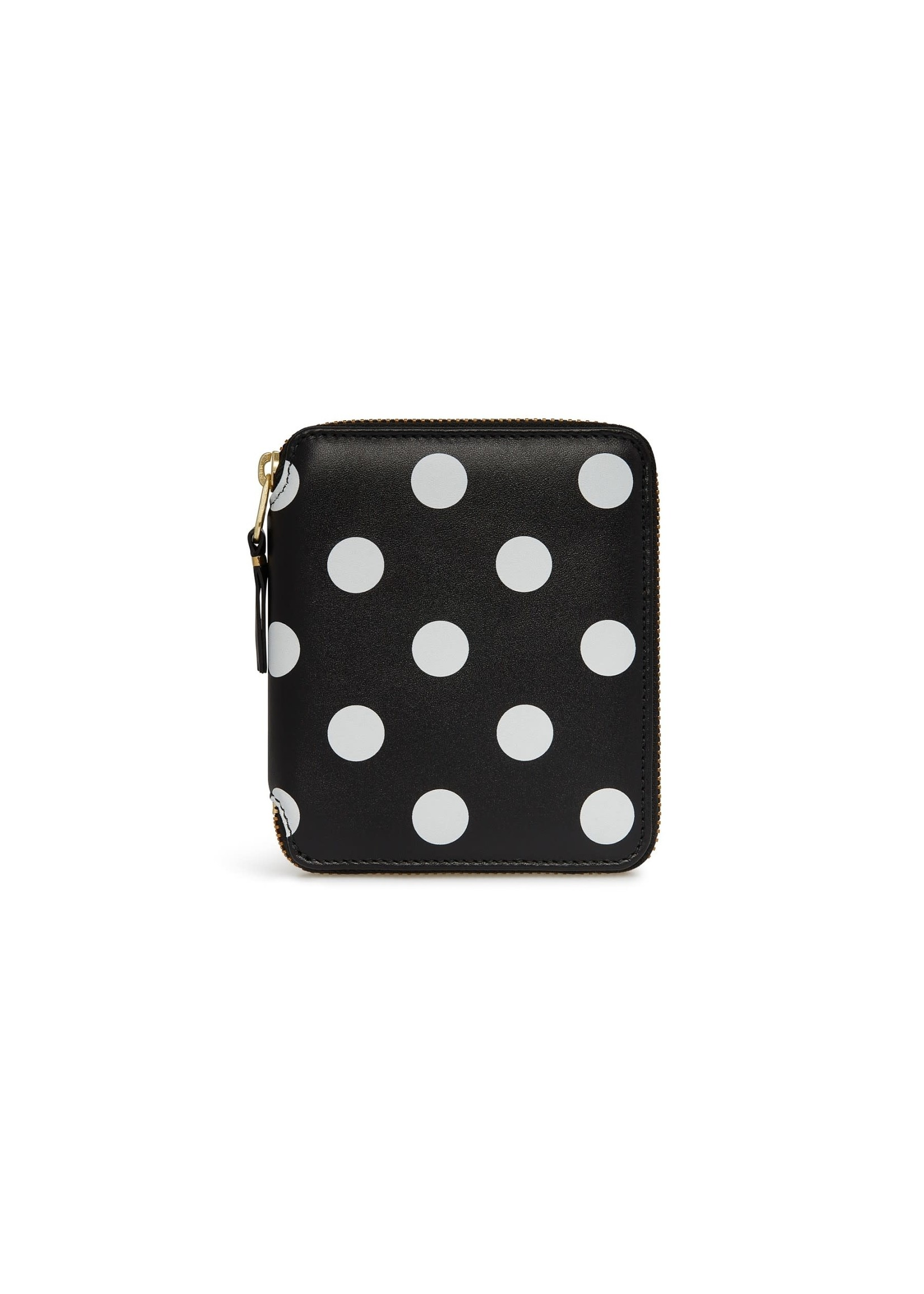 COMME des GARÇONS WALLET Full Zip Wallet Black/White Polka Dot SA2100PD