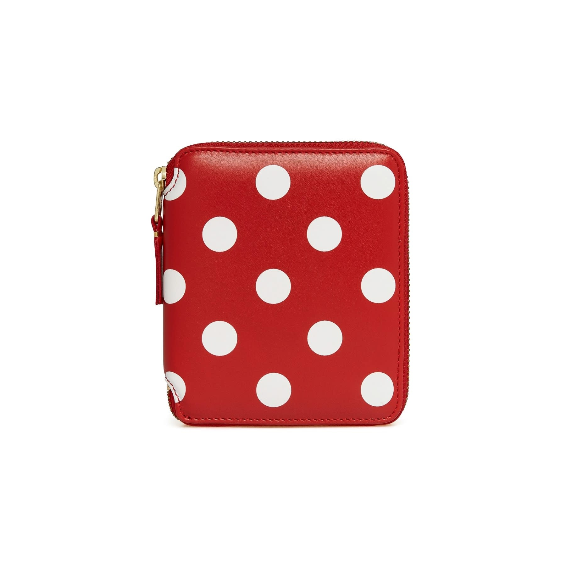 COMME des GARÇONS Wallet Full Zip Medium Wallet Polka Dot Red/White SA2100PD