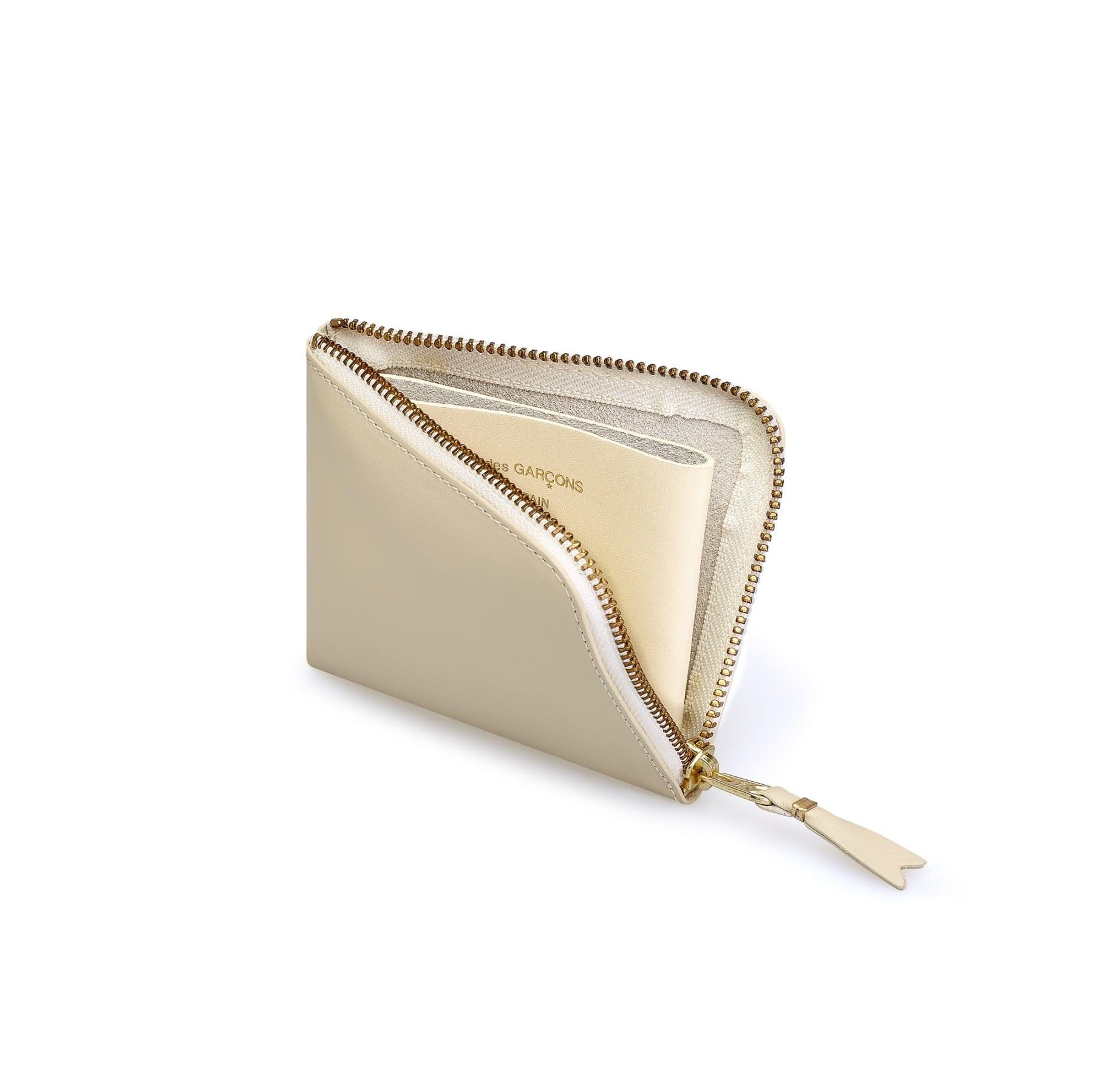 COMME des GARÇONS WALLET Half ZIP WALLET CLASSIC Off White SA7100