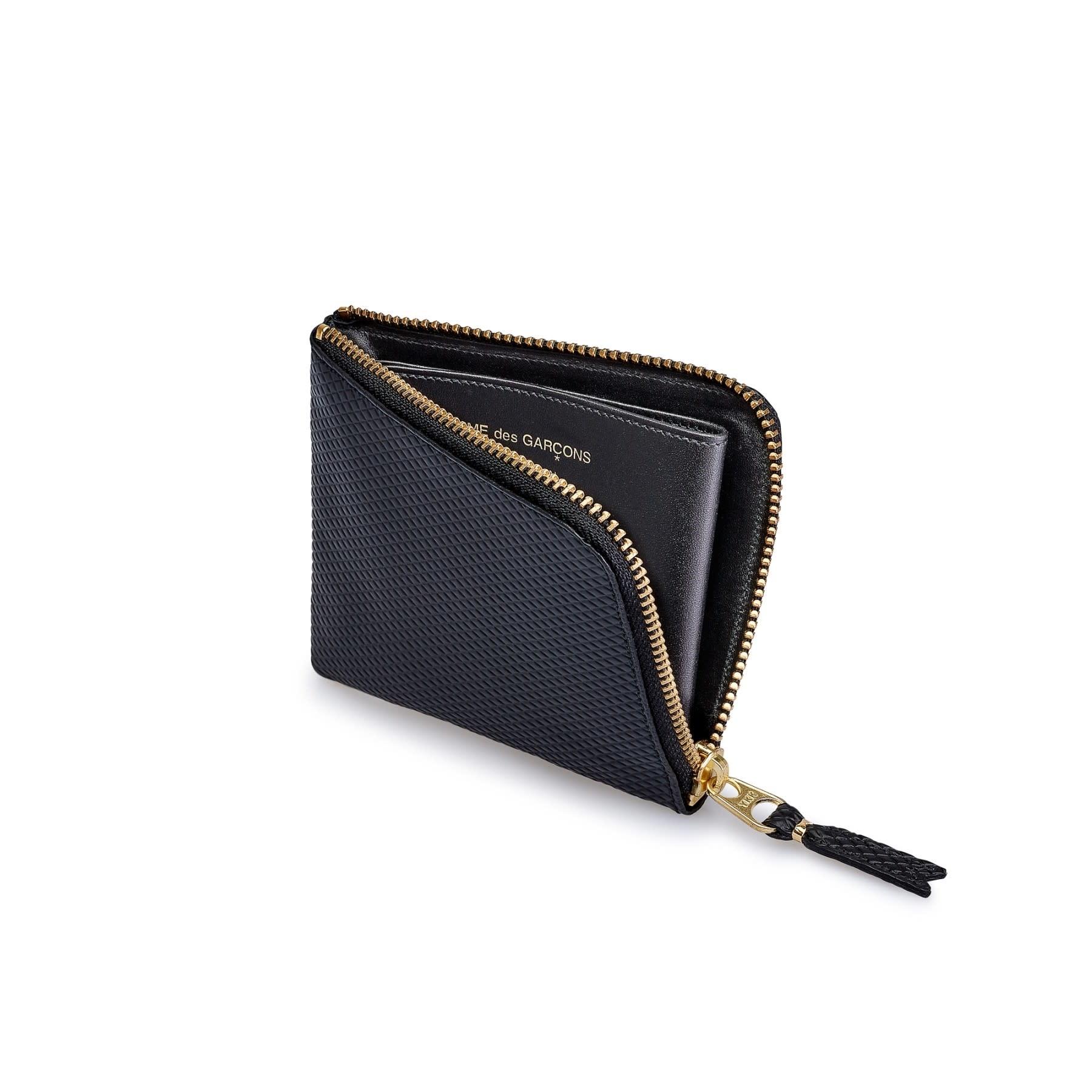 COMME des GARÇONS Wallet Half ZIP WALLET Lux BLACK SA3100 LG