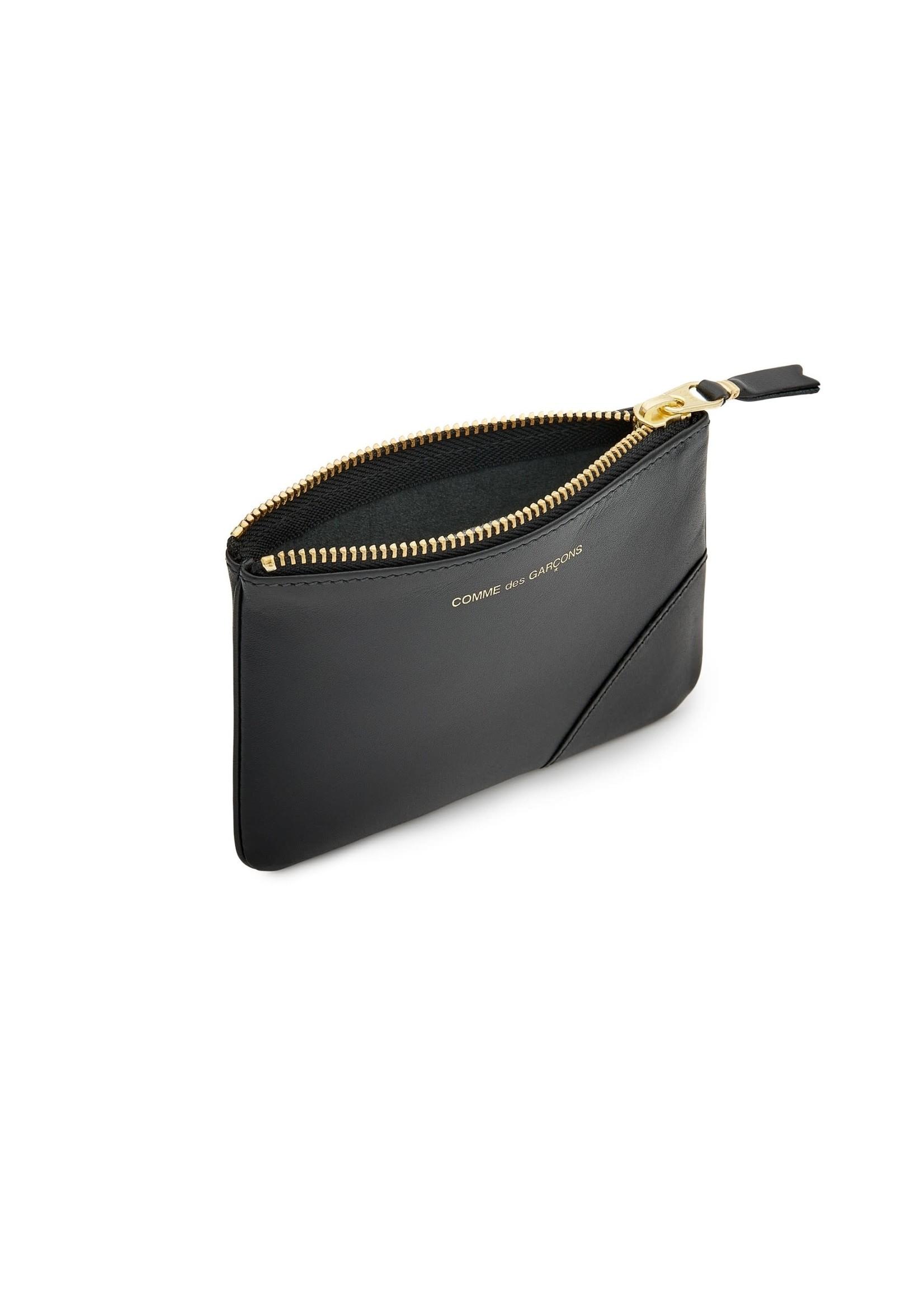 COMME des GARÇONS WALLET SMALL Leather ZIP POUCH Black SA8100