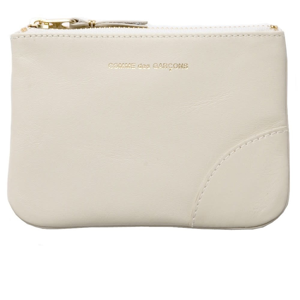 COMME des GARÇONS Wallet SMALL LEATHER ZIP POUCH Off White SA8100